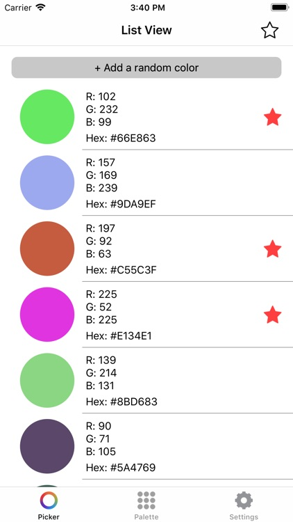 Hex Color Codes