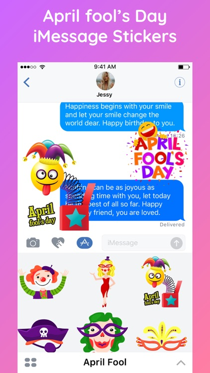 April Fools' Day Fun Stickers