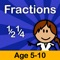 Fractions, decimals and percentages practice for Primary School Age children