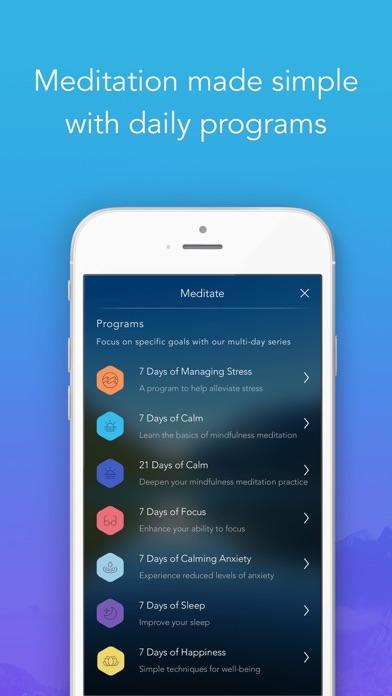 Calm: Meditation to Relax, Focus & Sleep Better app image