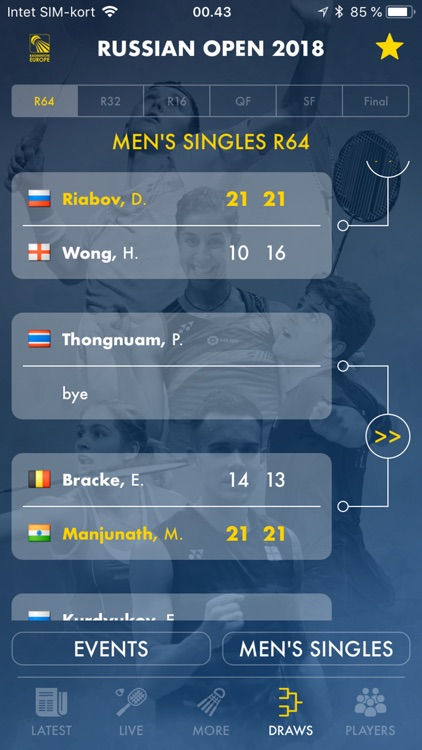 Badminton Live - rank & scores screenshot-0