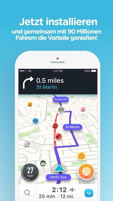 Screenshot for Waze Navigation und Verkehr in Austria App Store
