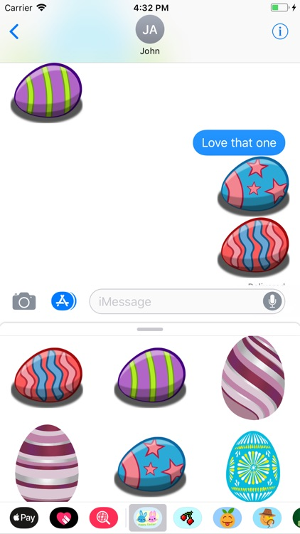 Easter Bunny & Egg Stickers screenshot-1