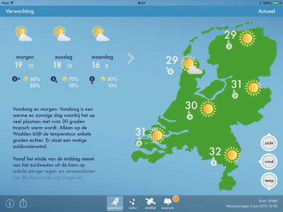 Weerbericht Nederland Ipad App Afbeelding