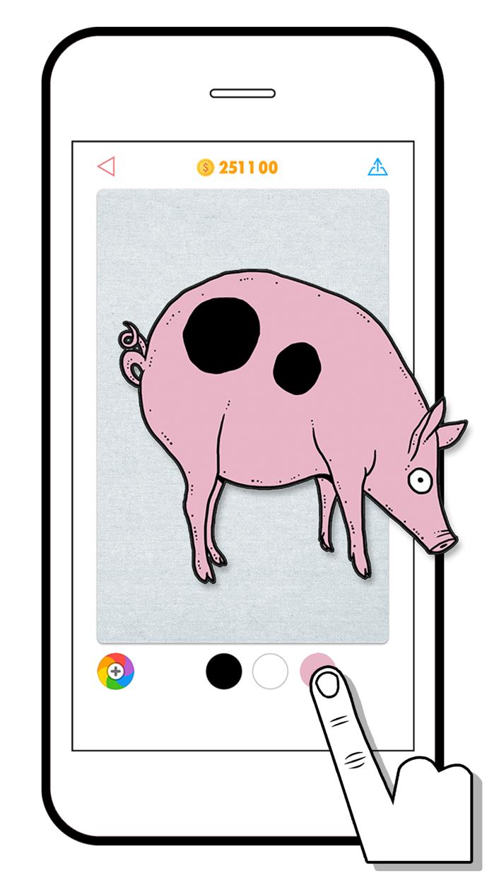 100 PICS Coloring Quiz Game Screenshot