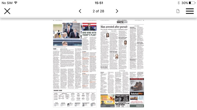 daily journal eedition on the app store