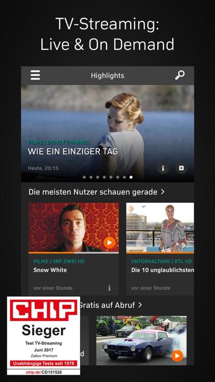 Zattoo TV Streaming screenshot-0