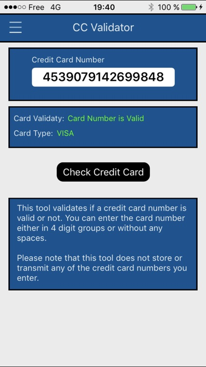 BIN - Credit Card Checker