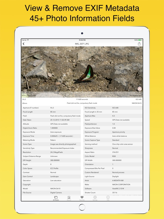 Screenshot #2 for EXIF Viewer by Fluntro