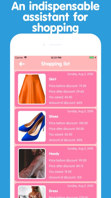 Easy shopping - discount list
