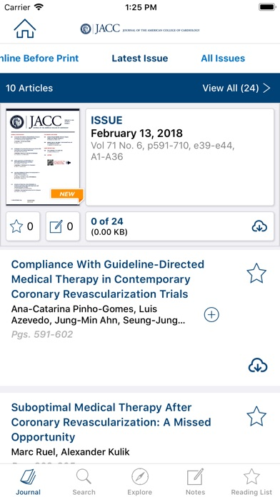 Jacc Journals review screenshots