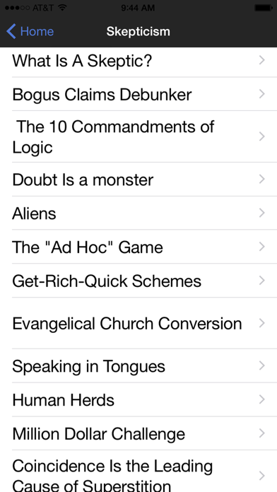 Atheist Pocket Debater review screenshots