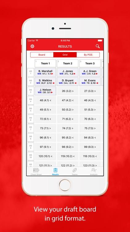 Fantasy Football Cheat Sheet & Draft Kit screenshot-3