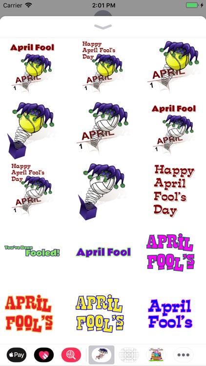 April Fool Sports Stickers screenshot-3