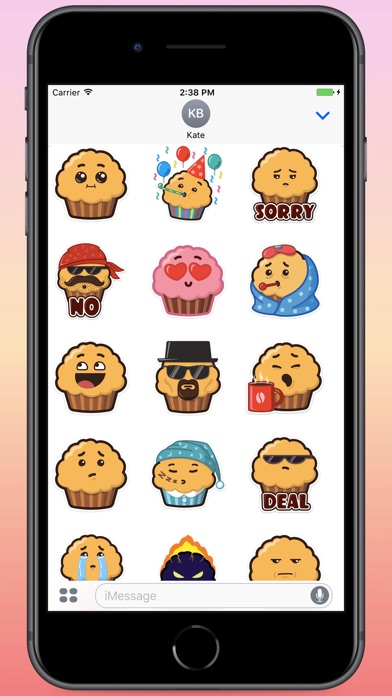 Screenshot for Mr.Muffin Stickers in Colombia App Store