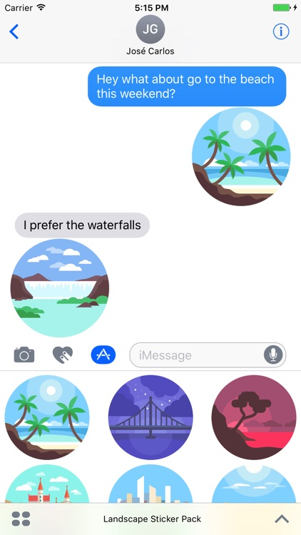 Landscapes Sticker Pack for iMessage