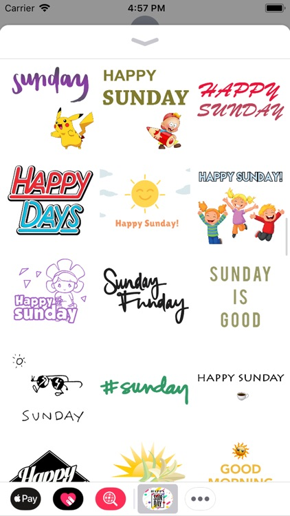 sunday stickers