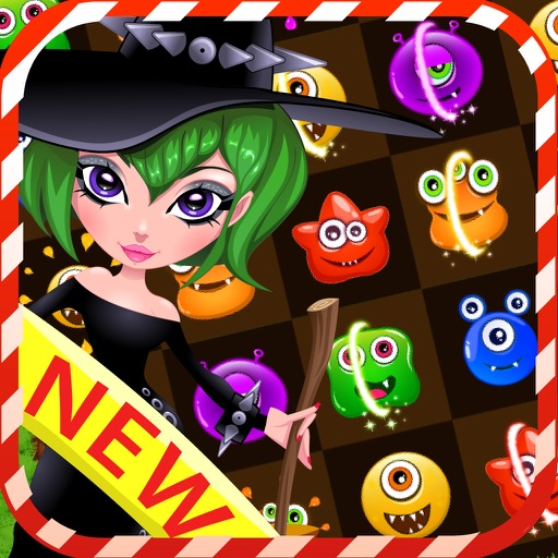 Rescue witch & monster puzzle