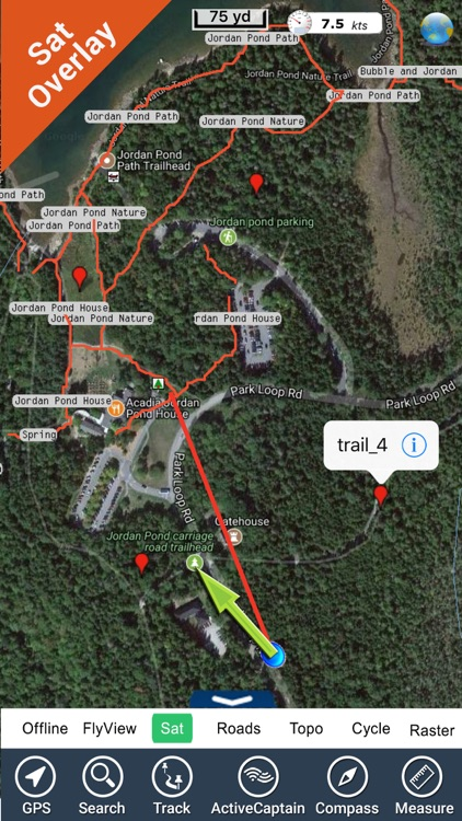 Acadia National Park GPS and outdoor map
