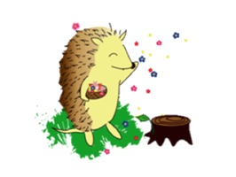 Happy Life Of Hedgehog Sticker