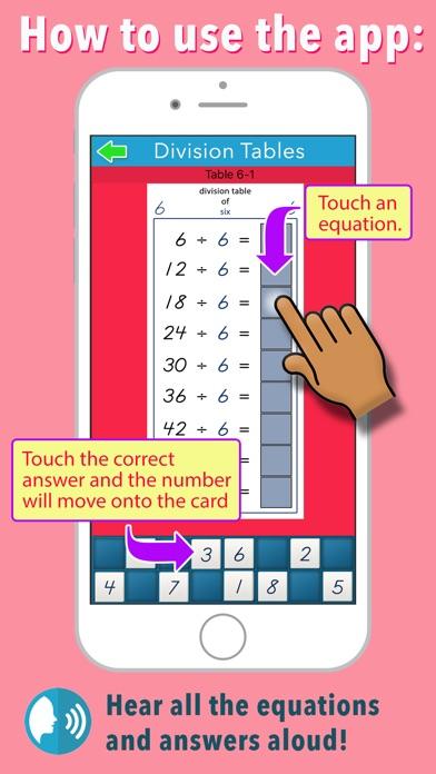 Montessori Division Tables screenshot 2