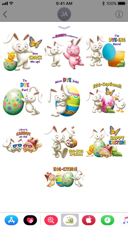 Dudley's Easter Stickers