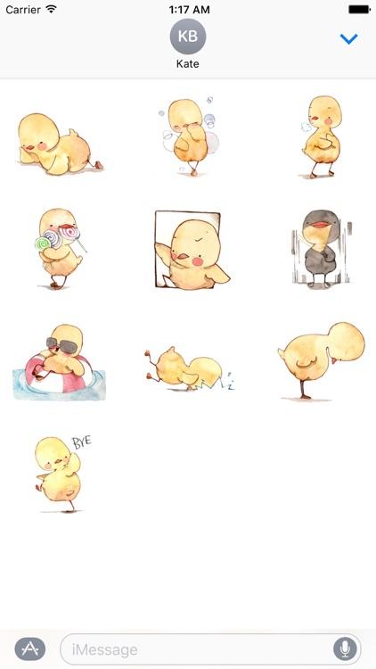 Watercolor Duckling Sticker