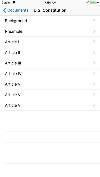 Patriot App (US Constitution)