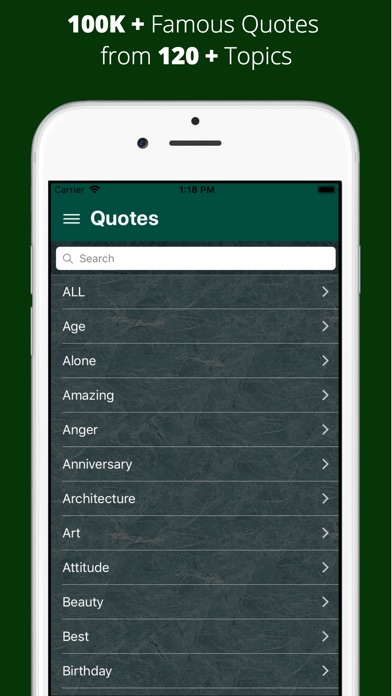 QuotesPro- 100K+ Famous Quotes screenshot 1