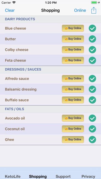KetoLife Allowable Food List screenshot-5