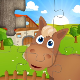 Farm Animal Jigsaw Puzzles for kids and toddlers