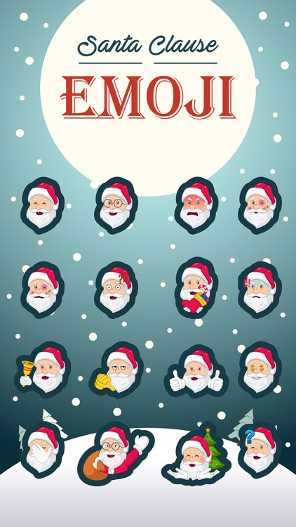 Santa Claus Emoji Stickers