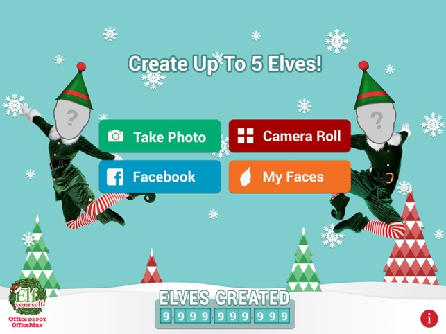 elfyourself by office depot on the app store - Office Depot Christmas Cards