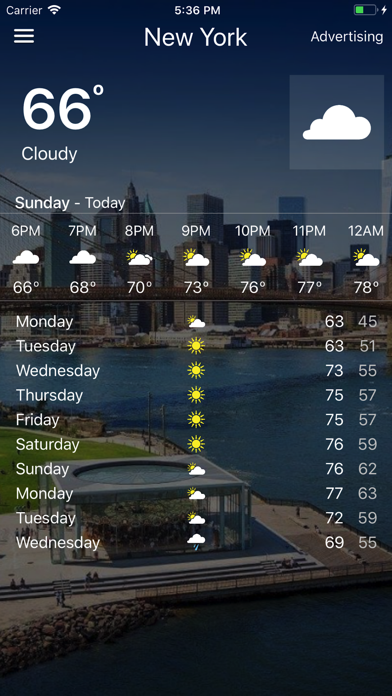 Weather - Local Forecast screenshot one
