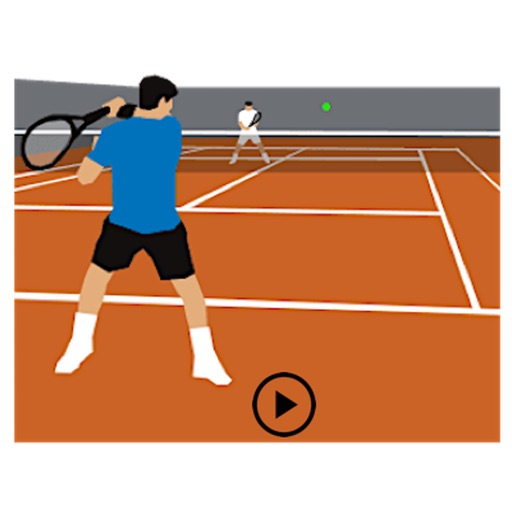 Men's Tennis Shots Sticker