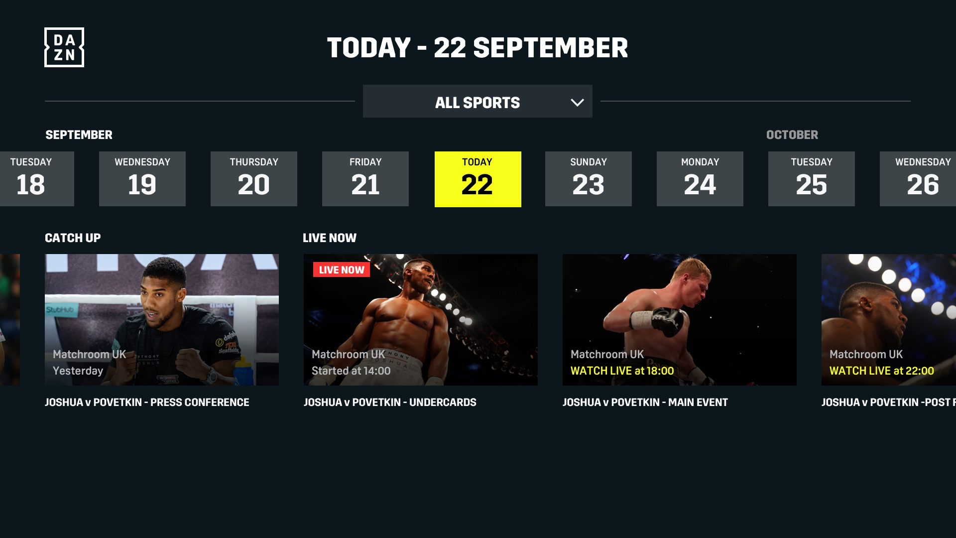 DAZN: Live Sports Streaming screenshot 14