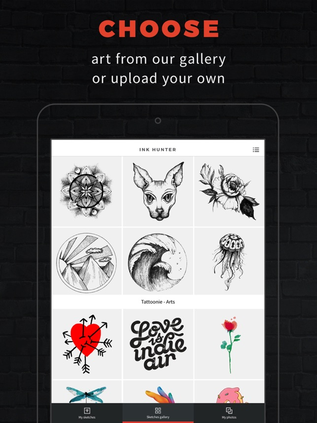 Inkhunter Try Tattoo Designs On The App Store