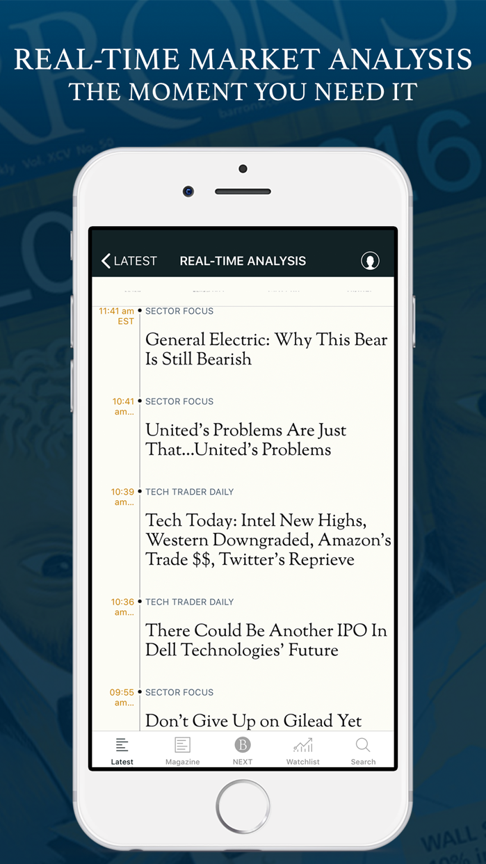 Barron's Screenshot