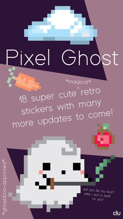 Kawaii Pixel Ghost Stickers