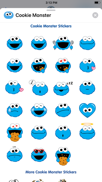 Cookie Monster Stickers screenshot one