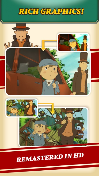 Layton: Curious Village in HD screenshot-4