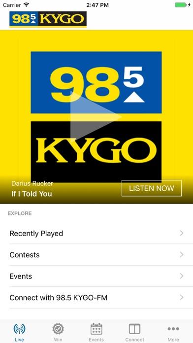 98.5 KYGO Скриншоты3