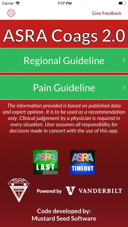 ASRA Coags by American Society of Regional Anesthesia and Pain Medicine