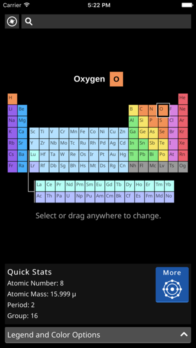 FlashMapper's Periodic Table screenshot one