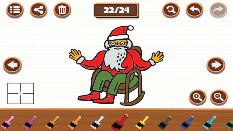 Santa Merry Christmas Coloring