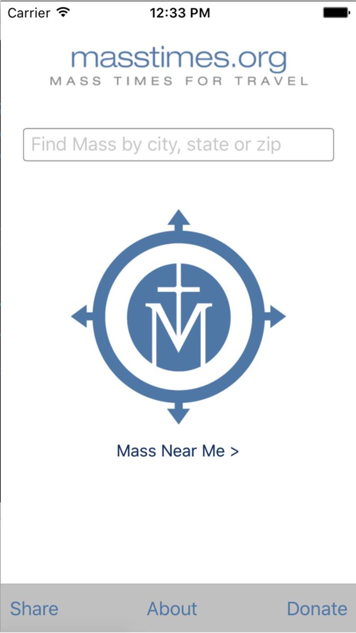 Mass Times for Travel Screenshot