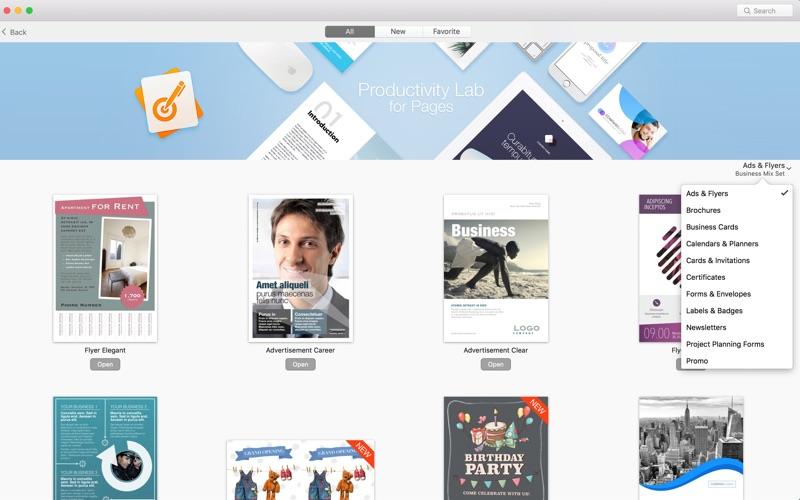 Print Lab: Templates for Pages Screenshots