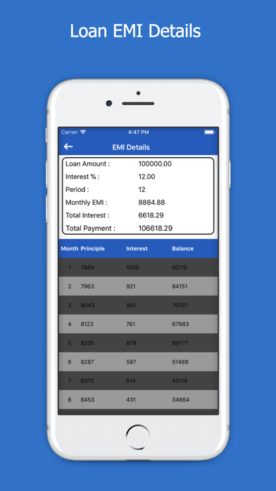 All Loans EMI Calculator screenshot three