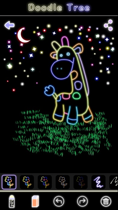 蛍光落書きツリー-マジック手描き図面&マンガ塗り絵 ScreenShot2