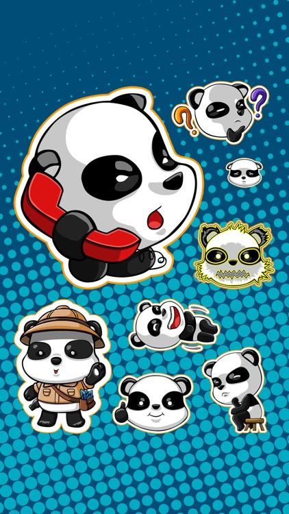Panda Emoji Stickers TriMatrix screenshot-3